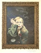 "Joni Mitchell – Signed Self-Portrait Lithograph of ""Both Sides Now"" Album Cover"
