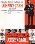 Johnny Cash – Autographed 1965 Double-Sided Handbill From Management Agency