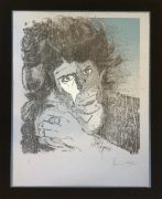 Rolling Stones – Unique Ronnie Wood Signed Lithograph of Keith Richards, Numbered 1/1