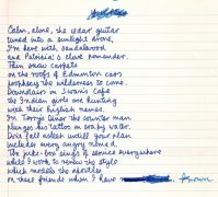 "Leonard Cohen – Original Handwritten Poem Manuscript, Published in his 1968 book ""Selected Poems"""