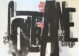 John Coltrane – 1962 Hamburg Concert Poster, Art by Gunter Keiser