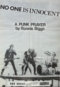 "Sex Pistols and Ronnie Biggs – 1978 UK Virgin Records Promo Poster ""No One is Innocent"""