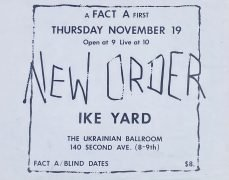 New Order – 1981 Ukrainian Ballroom NYC Concert Poster