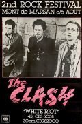 "The Clash – Huge 1977 French Concert Poster, Advertising Debut Single ""White Riot"""