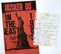 Hüsker Dü – 1983 Bob Mould Handwritten Setlist and Concert Poster