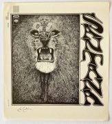 Santana – 1969 Debut Album Cover Slick, Signed By Artist Lee Conklin