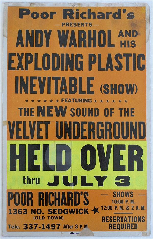 Velvet Underground – Moe Tucker's Own 1966 Poor Richard's Concert Poster