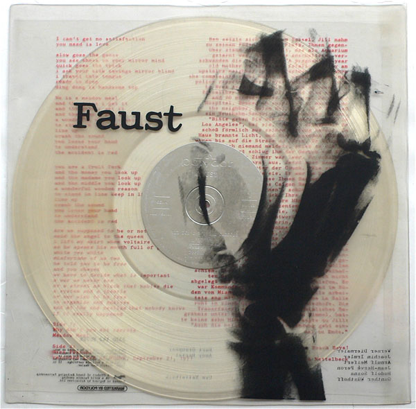 Faust Uk Clear Vinyl 1st Press Faust Album