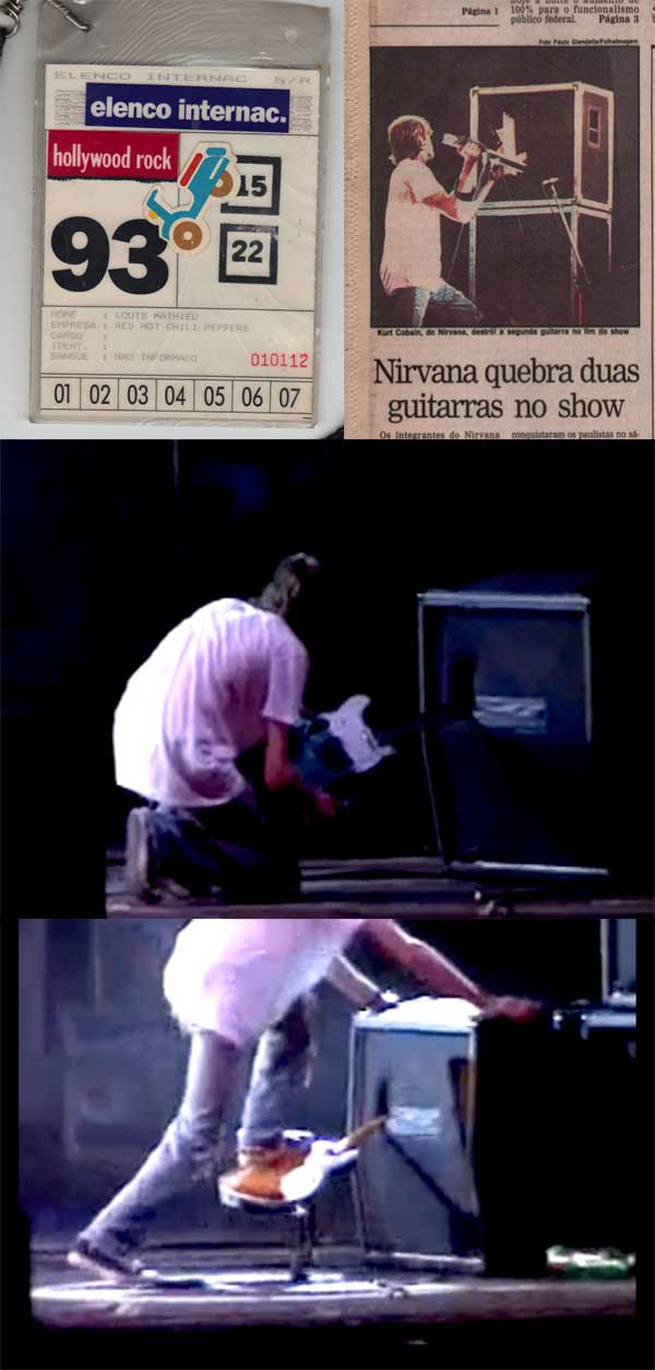 nirvana  u2013 kurt cobain  u2013 smashed guitar neck with extensive