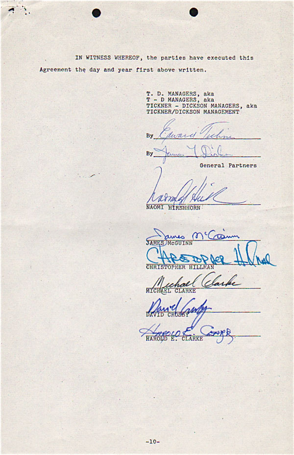 The Byrds – Fully Signed Management Contract Exhibited at Grammy Museum
