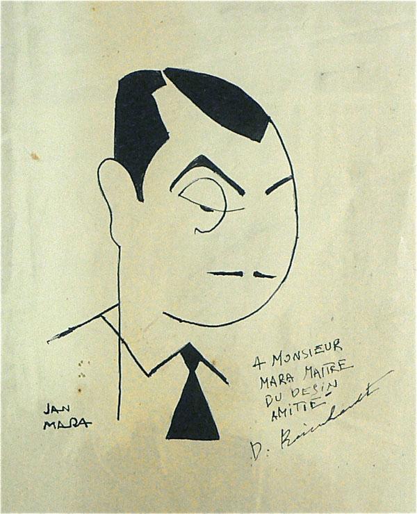 Django Reinhardt u2013 Signed Original Drawing
