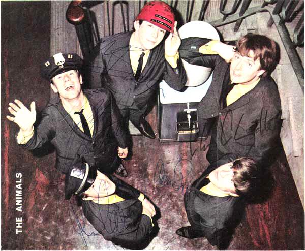 The Animals – Signed magazine photo of original group