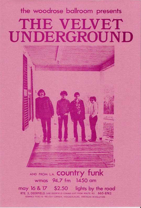 Velvet Underground – 1969 Concert Handbill