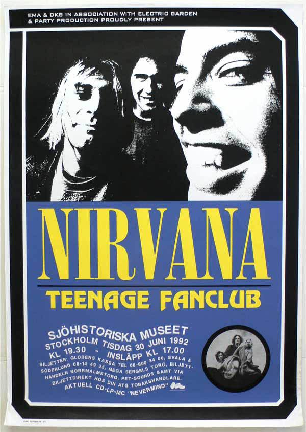 Nirvana – Stockholm 1992 Concert Poster