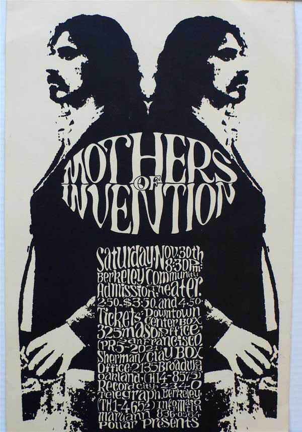 Zappa – Mothers – 1968 Berkeley Concert Poster
