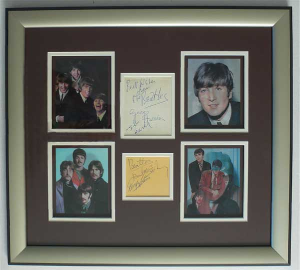 Love Each Other When Two Souls: Framed, Signed Autograph Display