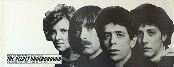 Velvet Underground – Max's Kansas City Concert Poster