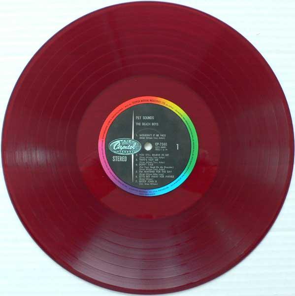 Beach Boys – Red Vinyl Japan PET SOUNDS LP