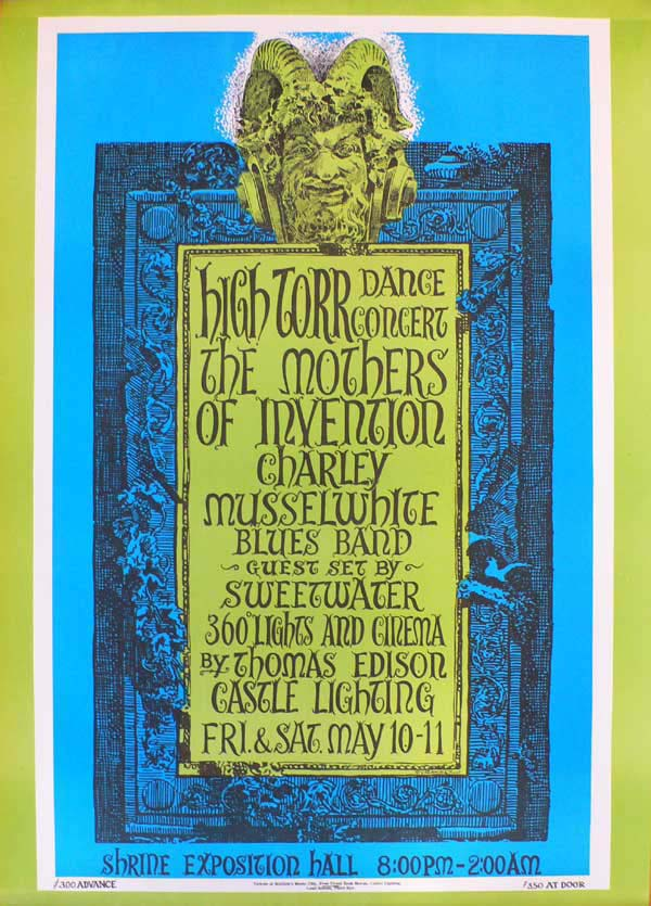 Frank Zappa & The Mothers – L.A. '68 Concert Poster