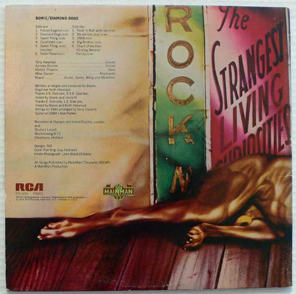 David Bowie Diamond Dogs Genitals Cover