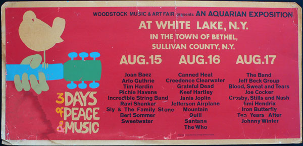 woodstock poster and lineup