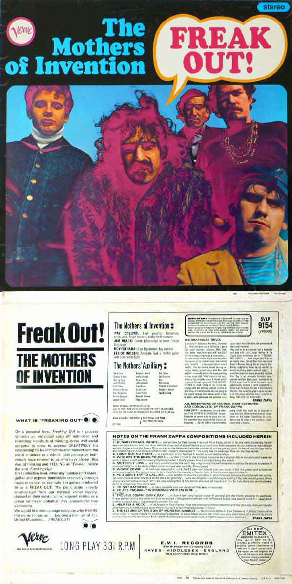Frank Zappa – Mothers of Invention – Original Freak Out Master Tapes