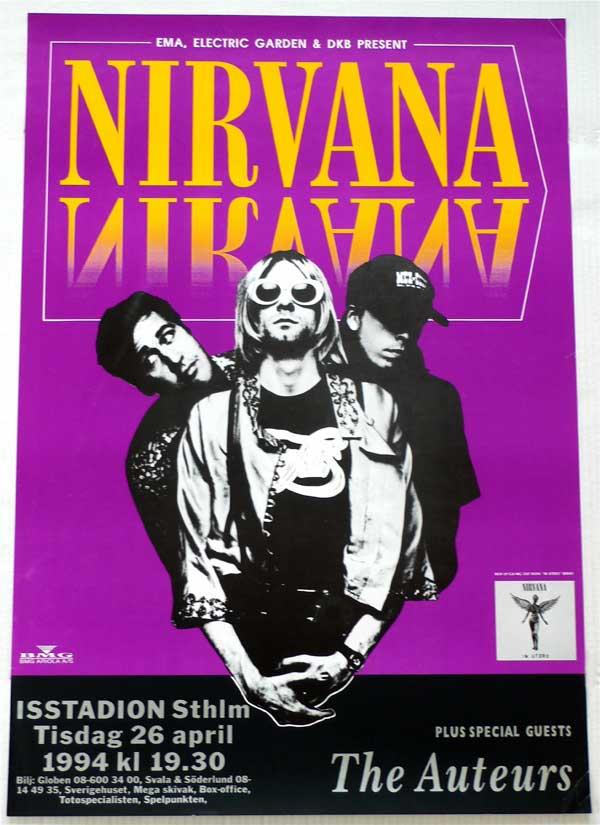 Nirvana Last Ever Concert Poster