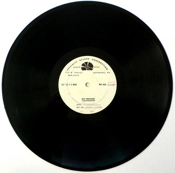 Velvet Underground – Sterling Morrison's LP Test Pressing