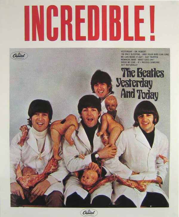 "The Beatles – Authentic ""Yesterday and Today"" Butcher Cover Promotional Poster"