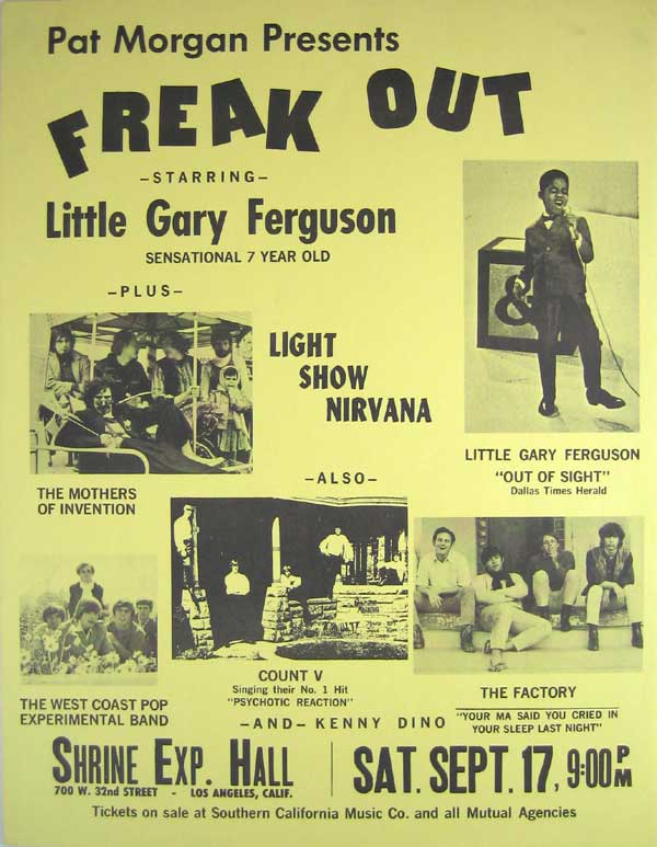 Frank Zappa & Mother of Invention – 1966 Freak Out concert poster