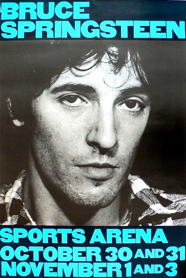 Bruce Springsteen 1980 La Sports Arena Concert Poster