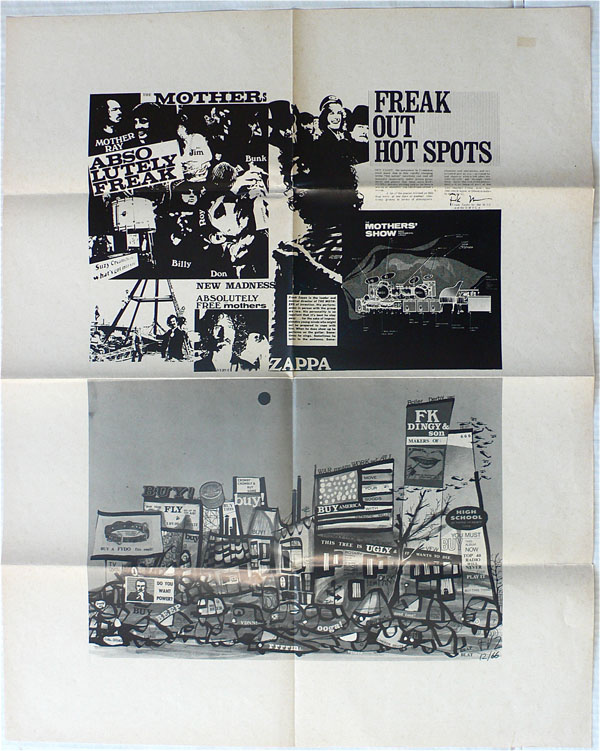 Frank Zappa & The Mothers of Invention – Freak Out Hot Spot Map