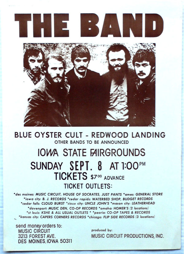 The Band – Boxing-Style Concert Poster