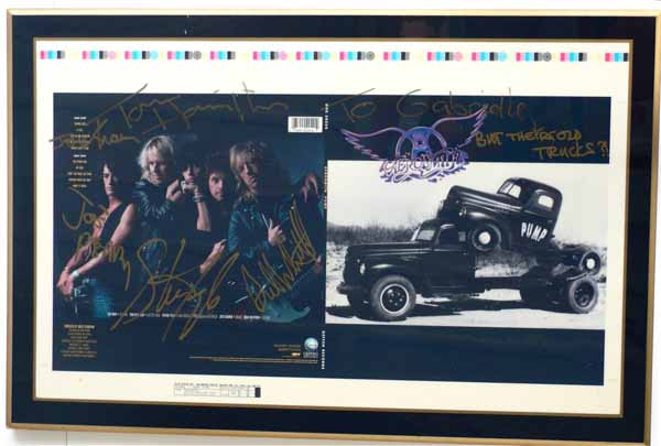 Aerosmith – Signed, Laminated PUMP Album Cover Proof