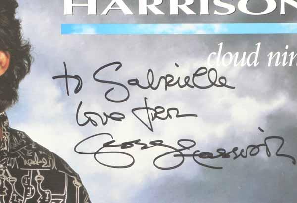 george harrison � beatles � signed cloud nine album cover