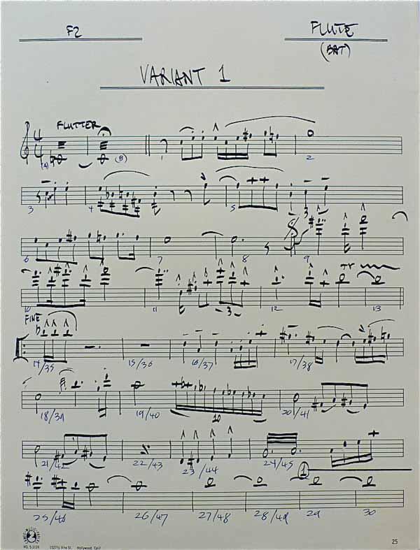 Frank Zappa – Handwritten Musical Manuscript