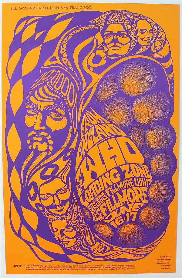 The Who – Loading Zone – BG-68 First Printing Fillmore Poster