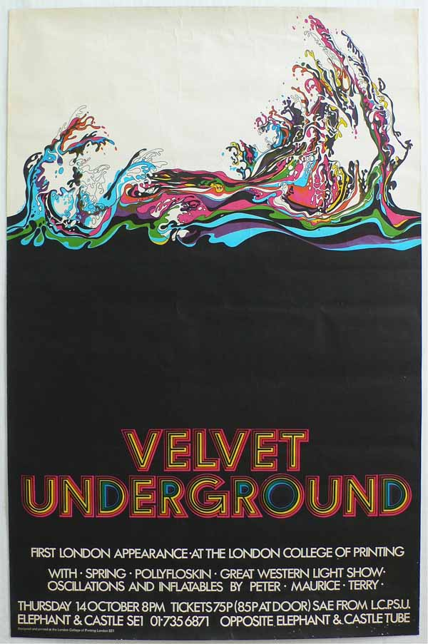 Velvet Underground – London College of Printing '71 Poster
