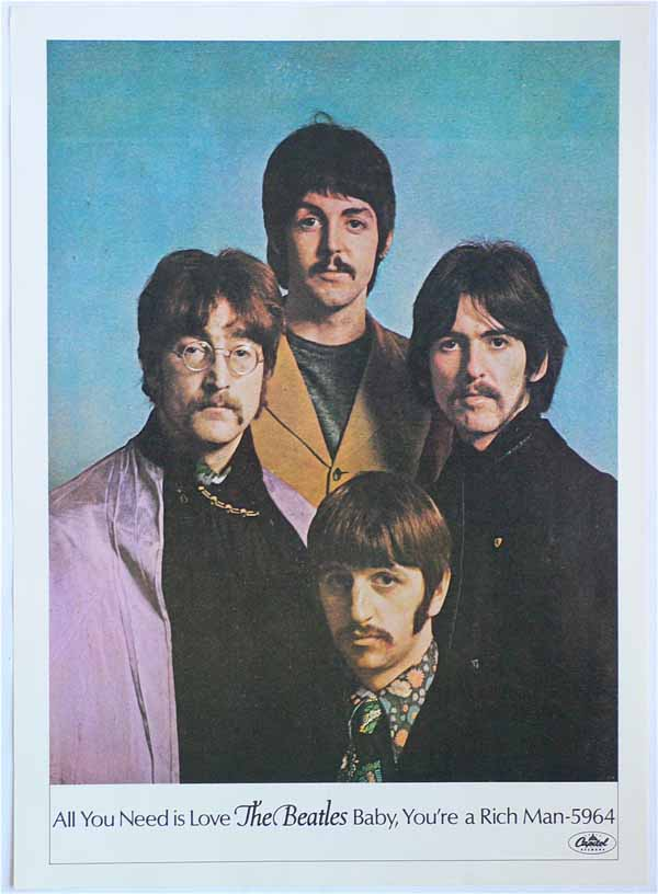 The Beatles – All You Need Is Love Capitol Promo Poster