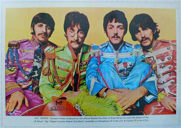The Beatles – Sgt. Pepper's Fan Club Promo Poster