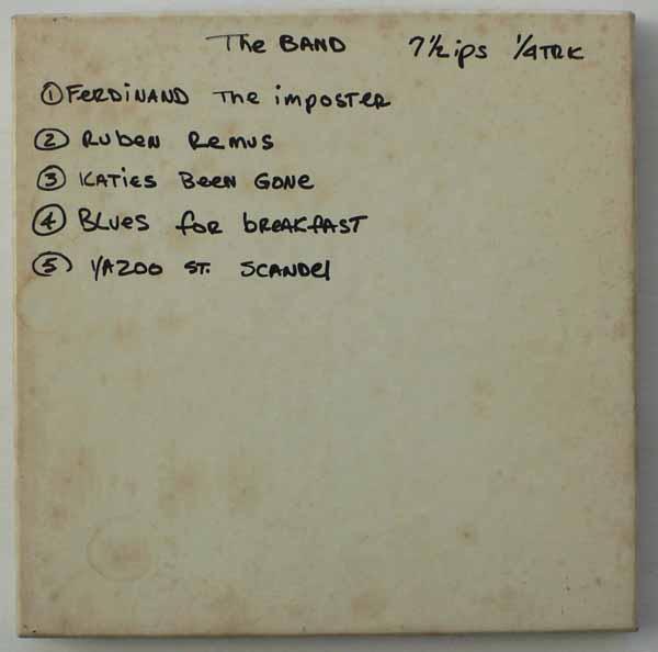 The Band – Unreleased 1967 Demo Tape