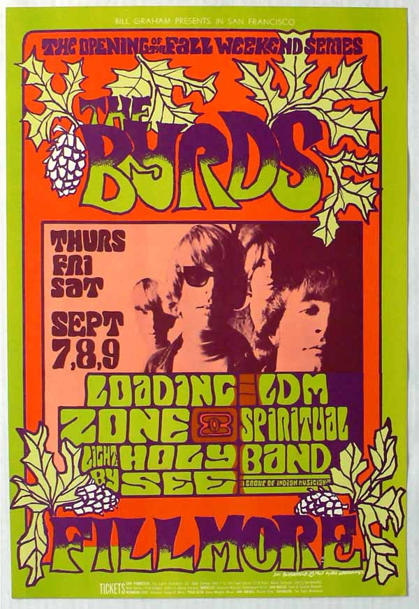 The Byrds Loading Zone BG 82 First Printing Fillmore Poster