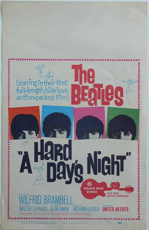 The Beatles – Original A Hard Day's Night Movie Poster