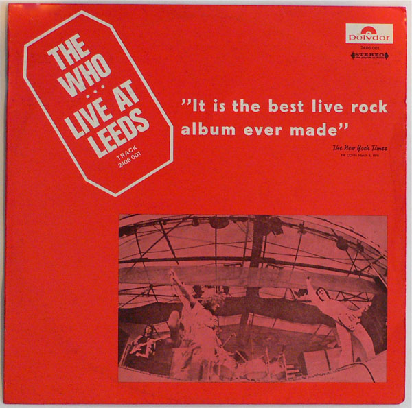 The Who – Israeli Live At Leeds LP with Unique Cover