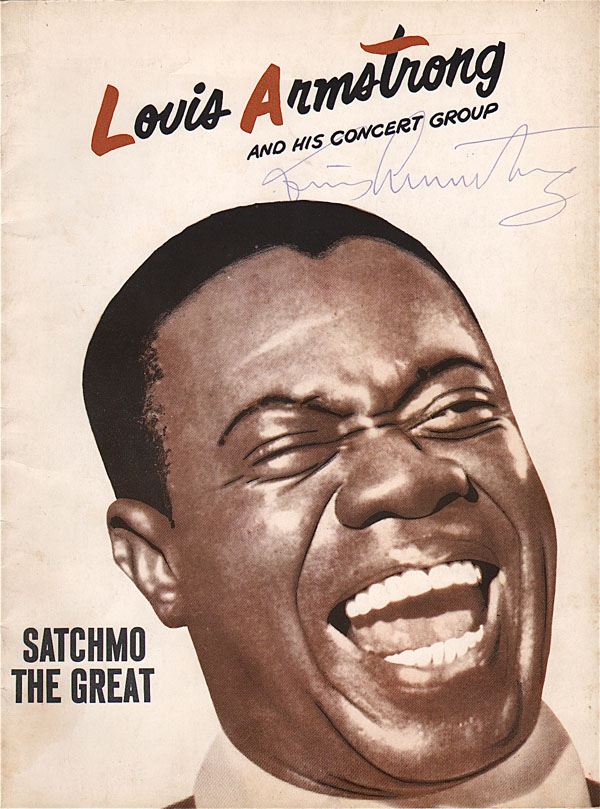 Louis Armstrong – Signed 1950's Concert Program