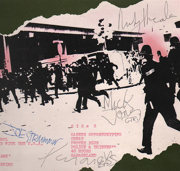 the clash  u2013 fully signed debut lp with 1977 concert ticket