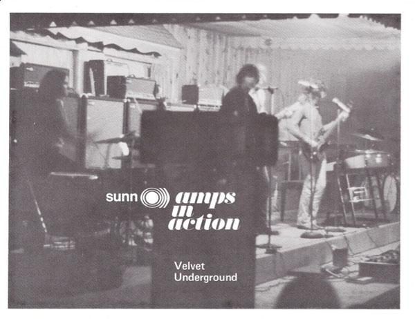 Velvet Underground – 1968 Sunn Amplifier Handbill