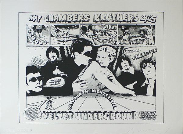 Velvet Underground – Unique Trial Proof Van Hamersveld Lithograph