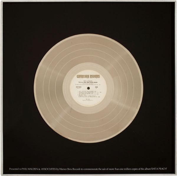 Allman Brothers Band – Eat A Peach Platinum Record Award