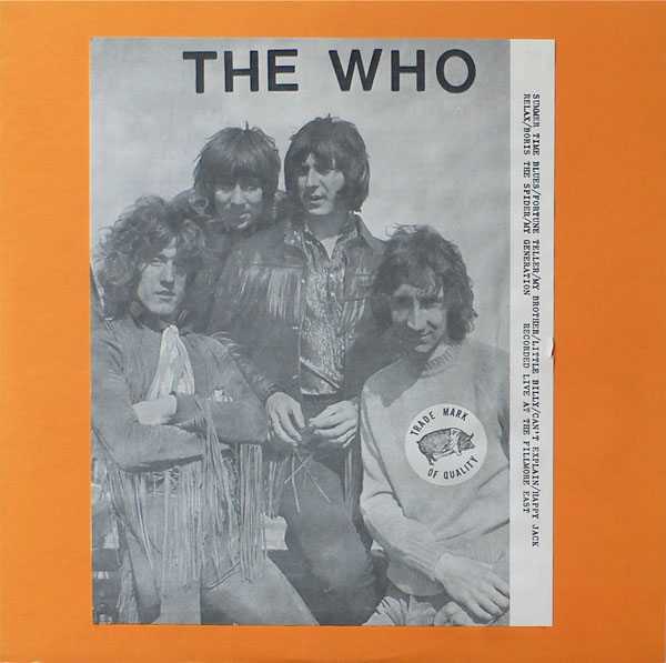 The Who – Live At The Fillmore East TMOQ Blue Vinyl LP